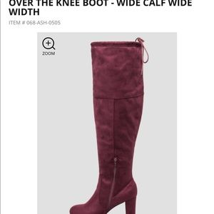 517567ffdc6 Ashley Stewart Shoes - Over The Knee Wide Width Calf Boots